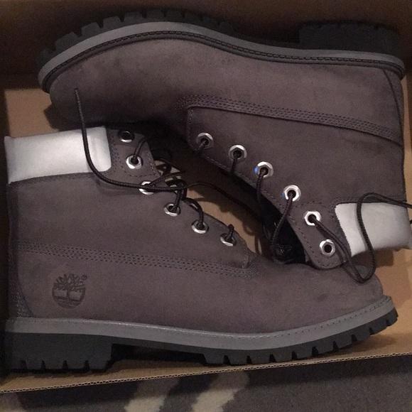 ea7a6c89507 Timberland Shoes | Dark Grey Boots Kids 6 Womens 8 | Poshmark
